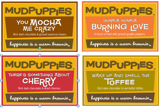 Mud Puppies Flavors